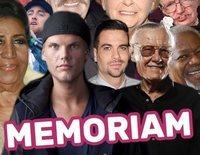 In memoriam: Las celebrities que han fallecido en 2018