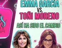Toñi Moreno vs. Emma García: Así ha sido el intercambio de programas